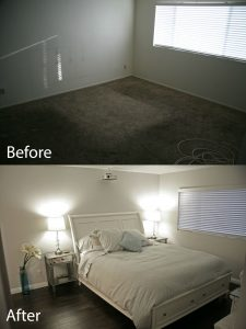 before and after bedroom renovation and design