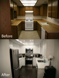 before and after kitchen renovation and design